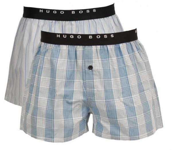 Hugo Boss Boxer wijd 2-Pak blauw