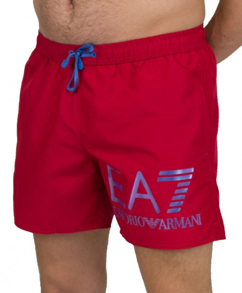 Armani Zwemshort EA7 logo rood
