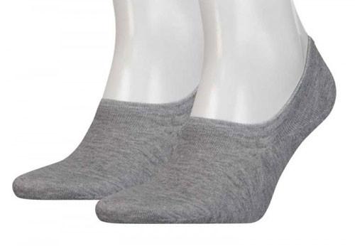 Tommy Hilfiger grijze invisible sokken