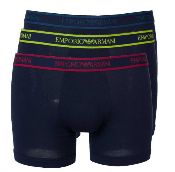 Armani boxershorts 3-pack blauw