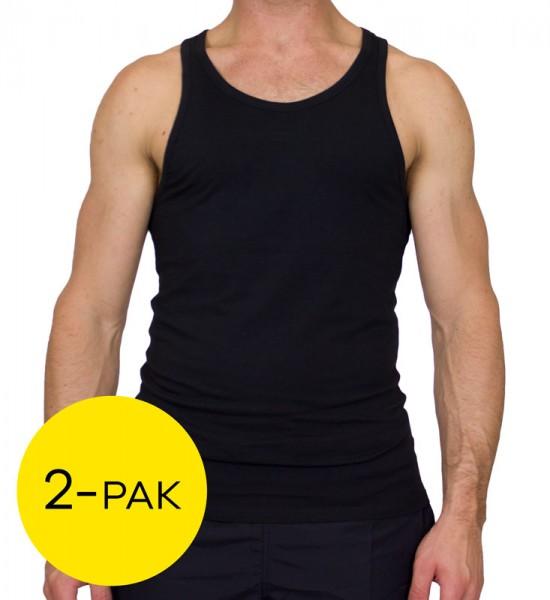 Calvin Klein singlet ID 2-pack zwart