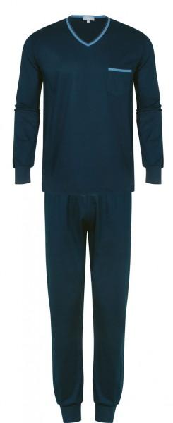 Mey pyjama met V-hals Yacht blauw