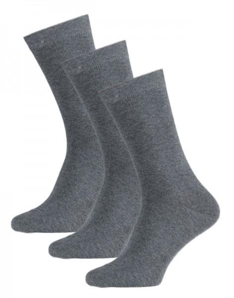 Apollo heren sokken 3-paar grijs