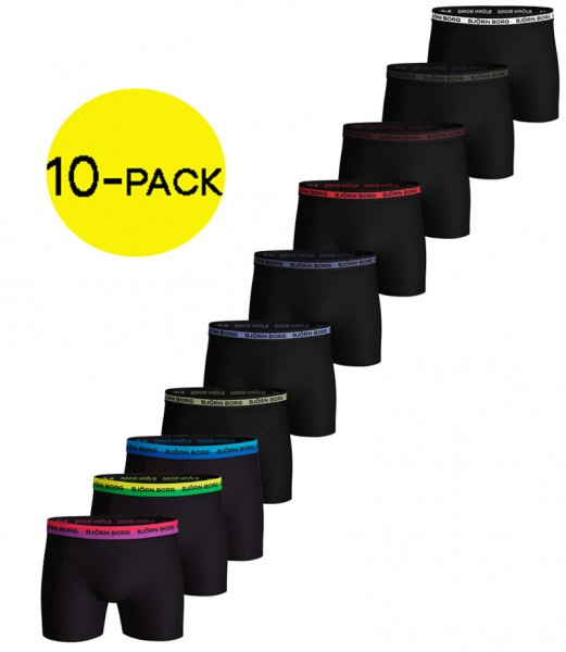 Bjorn Borg boxershorts 10-pack zwart multi