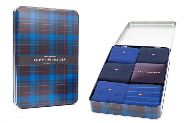 Tommy Hilfiger giftbox Navy 5-pack sokken