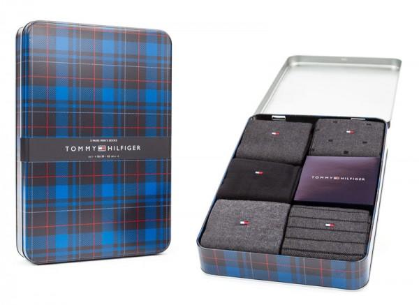 Tommy Hilfiger sokken birdeye 5-pack giftbox zwart