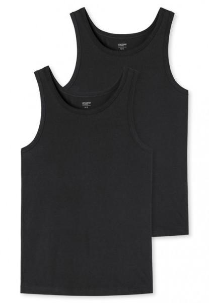 Schiesser Singlet Uncover 2-pack zwart