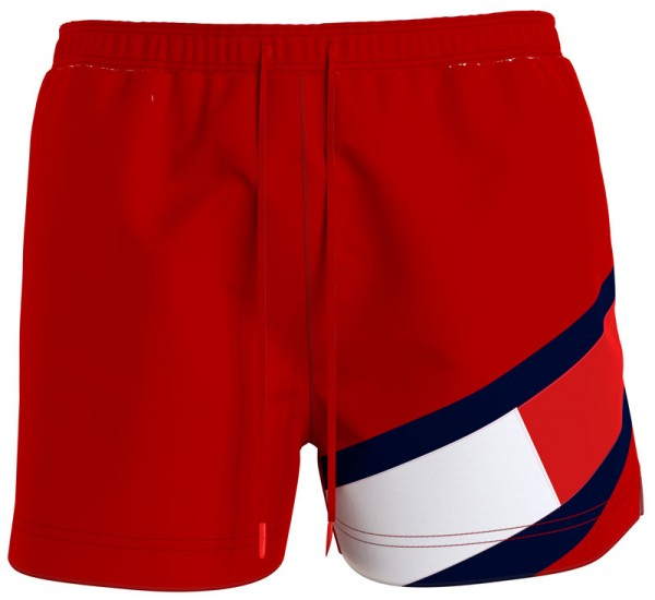 Tommy Hilfiger zwemshort medium drawstring rood voorkant