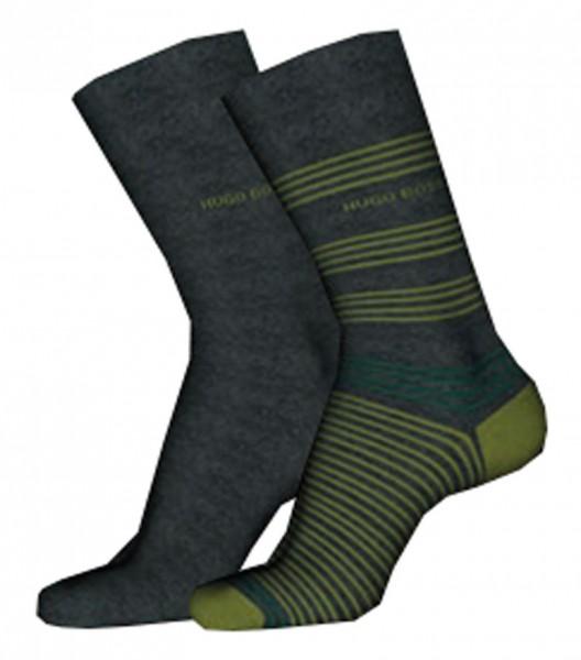 Hugo Boss heren sokken streep-effen antraciet