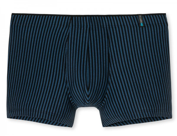 Schiesser boxershort long life soft blauw