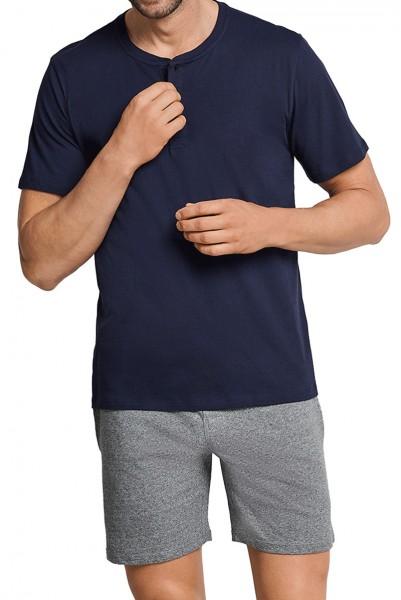 Schiesser Pyjamashirt korte mouw shirt