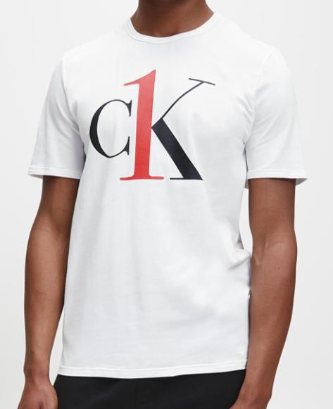 Calvin Klein T-shirt CK logo wit