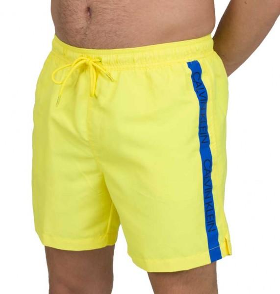 Calvin Klein zwemshort CK medium drawstring geel