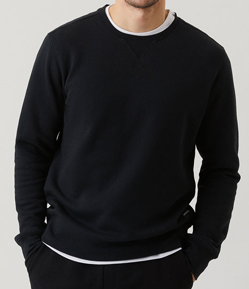 Bjorn Borg sweatshirt zwart voorkant centre