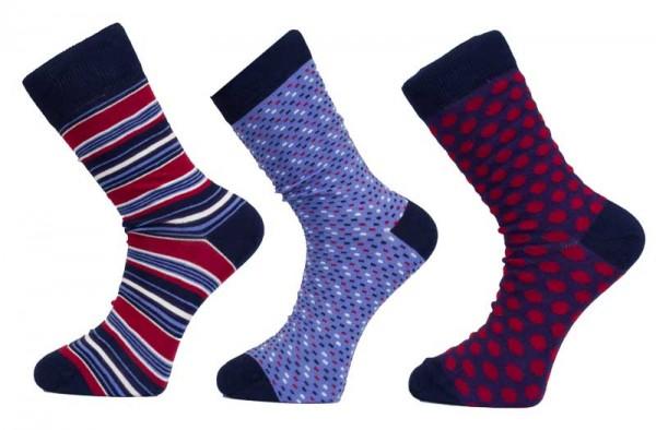 Apollo heren sokken print 3-paar