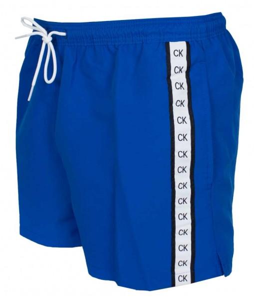 zwemshort Calvin Klein Medium drawstring blue zijkant