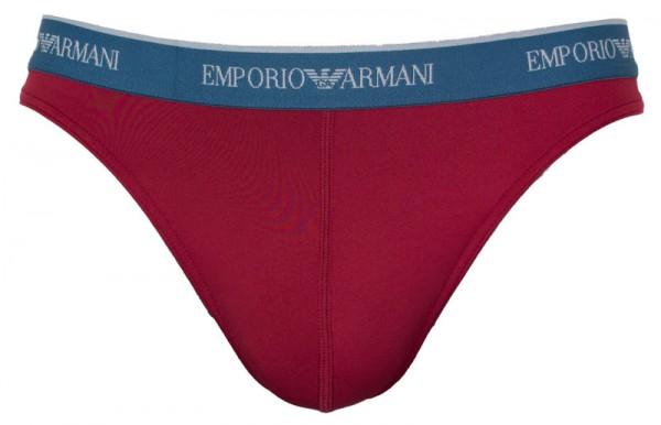 Armani herenstring microfiber rood voorkant