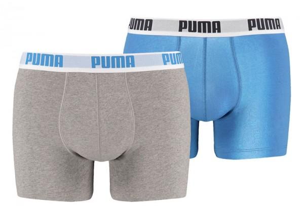 Puma boxershorts 2-pack grijs-blauw