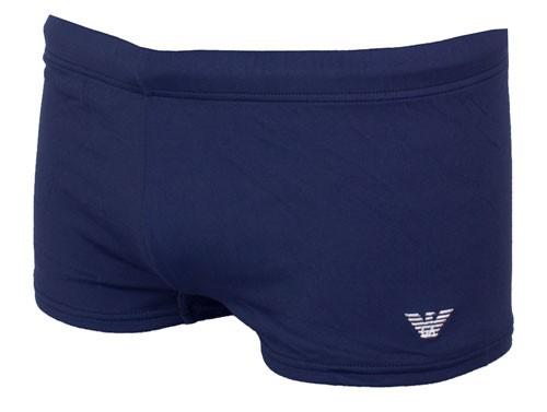 Armani zwemboxer blauw met mini logo