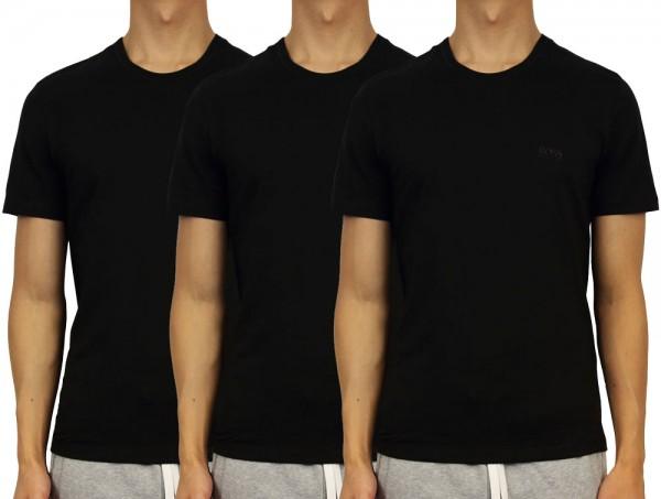 Hugo Boss T-shirt Classic 3-Pack 50325388 zwart