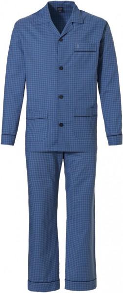 Robson doorknoop pyjama heren blauw