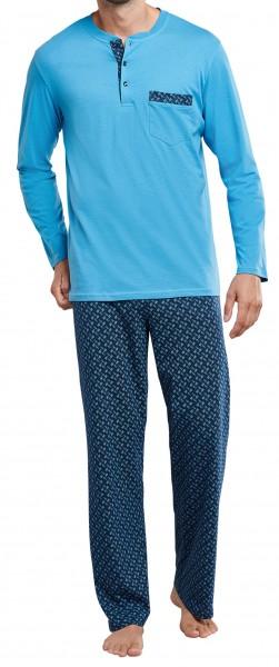 Schiesser heren pyjama met knoopjes