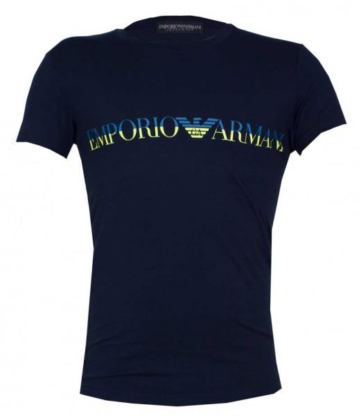Armani T-shirt Logo print blauw