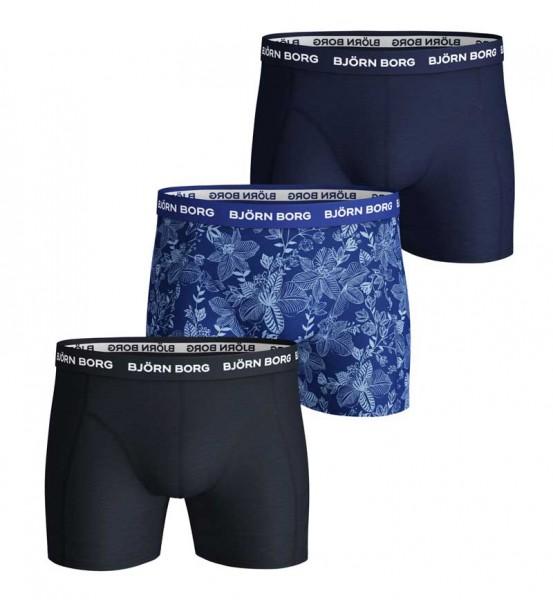 Bjorn Borg Boxershorts Fiji flower 3-Pack blauw