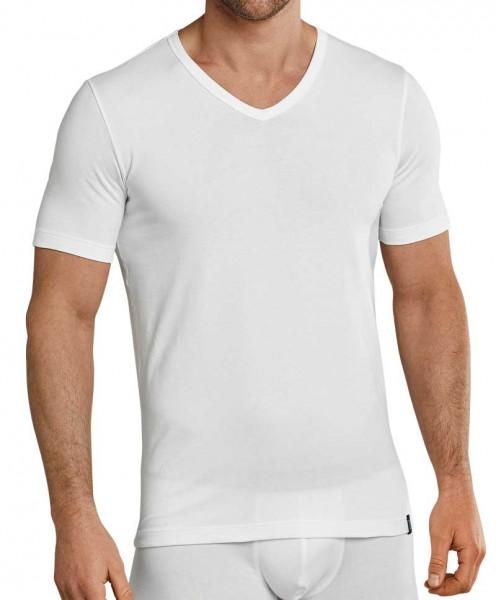 Schiesser V-shirt 95-5 stretch wit