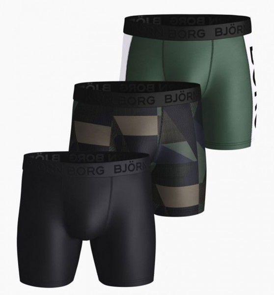 Bjorn Borg boxershort Textured block 3-pack zwart