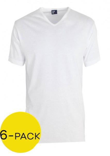 Alan Red Vermont T-shirt V-hals 6-pack