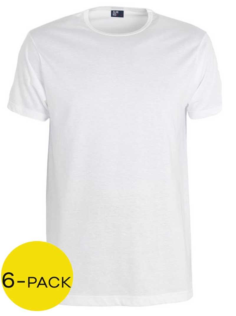 Alan Red Derby T-shirt 6-pak