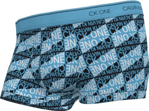 Calvin Klein boxershort microfiber blauw print