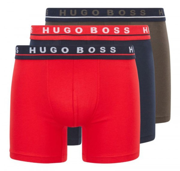Hugo Boss 3-pack boxershorts rood-groen-blauw