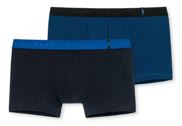 Schiesser Short 95/5 blauw 2-pack