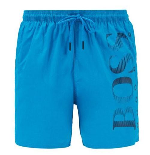Hugo Boss zwemshort Octopus blauw