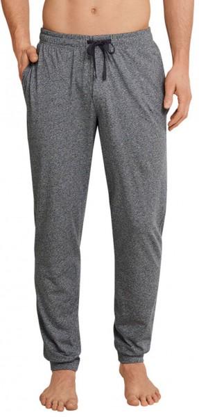 Schiesser Pyjamabroek jersey met boord grijs melee