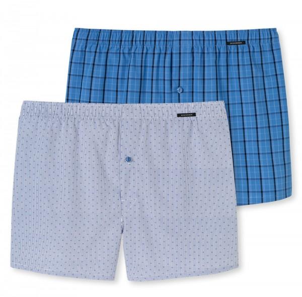 Schiesser Boxershorts 2pack blauw