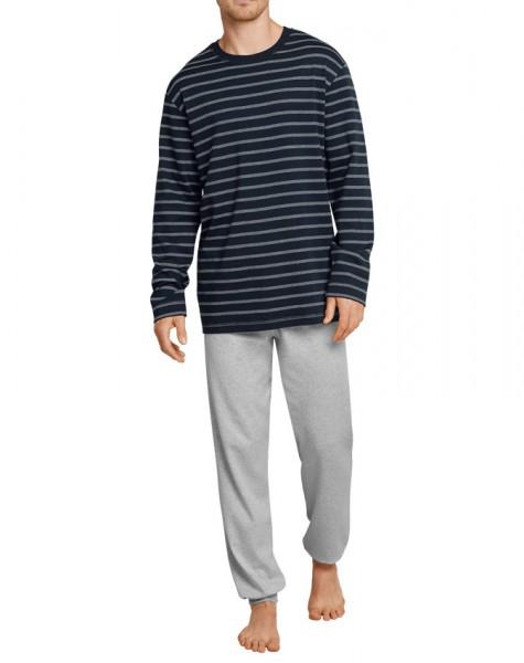 Schiesser Pyjama gestreept met boord