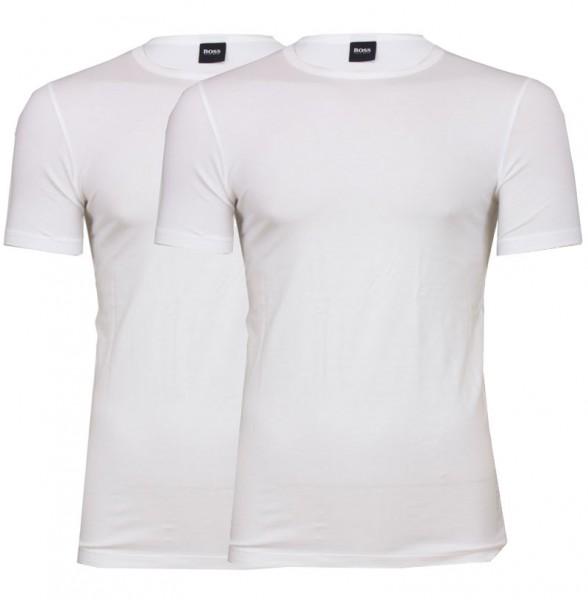 Hugo Boss T-shirt stretch slim fit 2-pack wit