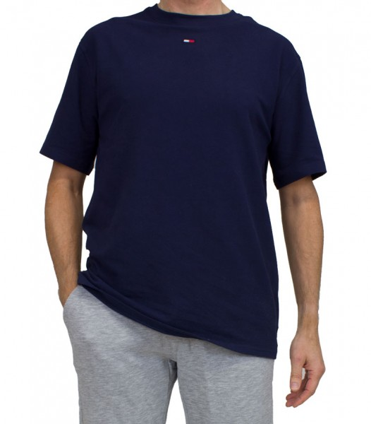 Tommy Hilfiger T-shirt TH flag logo blauw