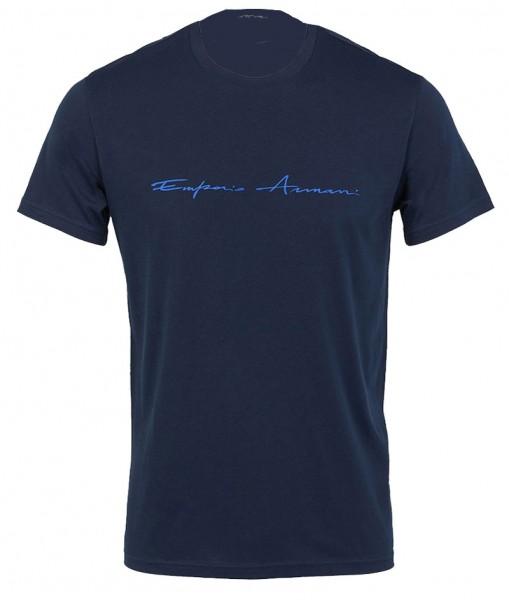 Armani T-shirt GA met logo blauw