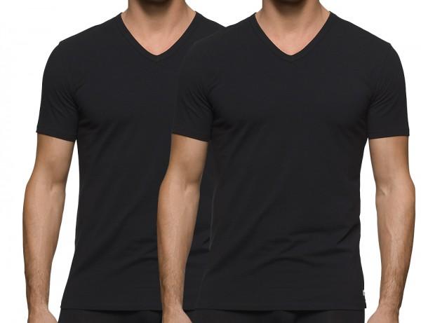 Calvin Klein V-shirt 2-pack zwart