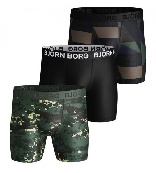 Bjorn Borg boxershorts Digital woodland zwart 3-pack