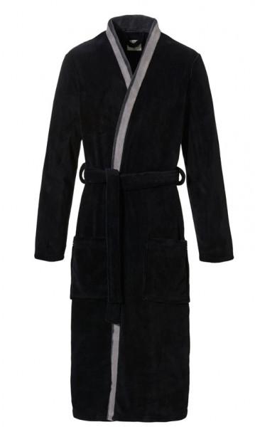 Ten cate badjas voorkant zwart grijs