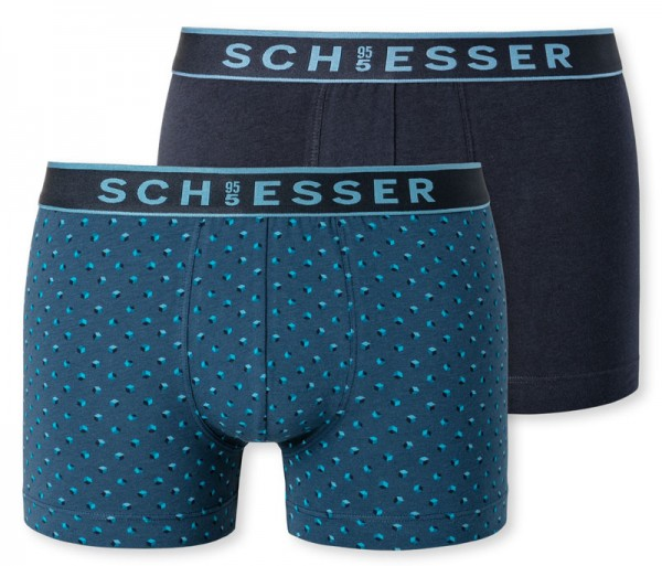 Schiesser boxershorts 95/5 met print 2-pack