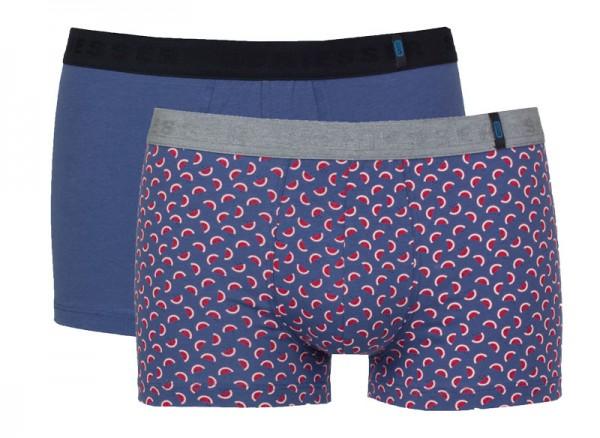 Schiesser Short 95-5 blauw 2-pack