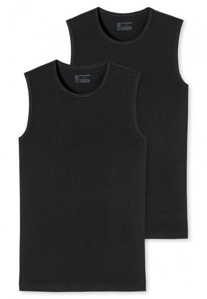 Schiesser Tanktops zwart 95-5 2-pack