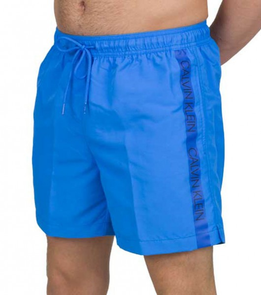 Calvin Klein zwemshort CK medium drawstring blue