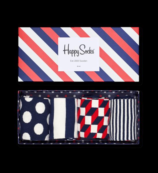 Happy Socks Sokken kado box 4-pak Strp